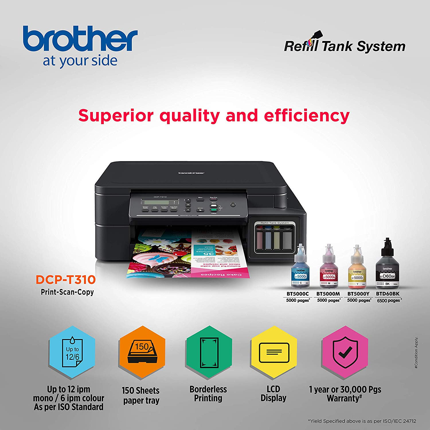 Brother DCP-T310 Inktank Refill System Printer