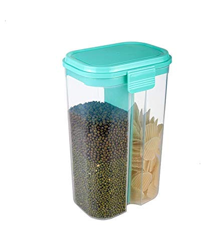 Plastic Storage Container For Kitchen 2 Sections
