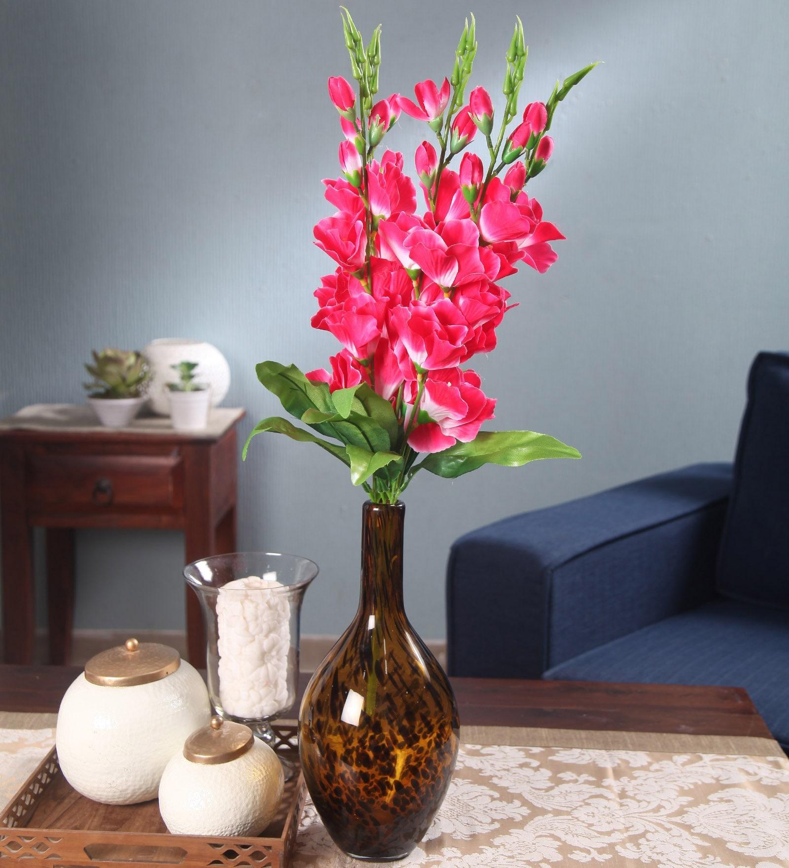 Multicolour Fabric Gladiolus Artificial Flower Bouquet NF2