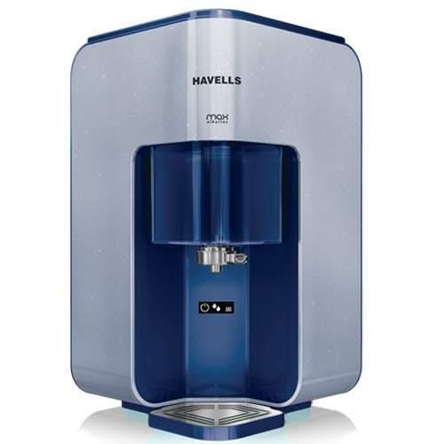 Havells Max Alkaline 7-Liter RO+UV Water Purifier (Blue/White)