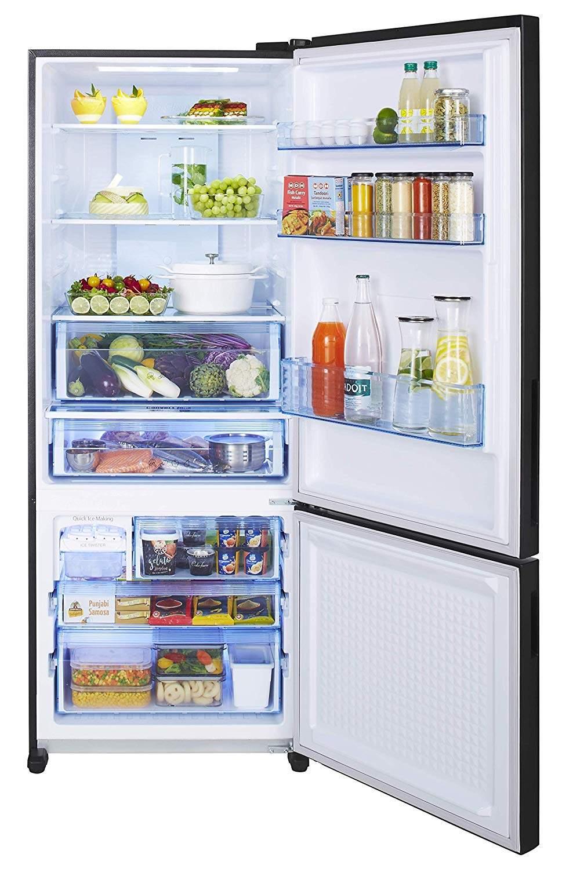 Panasonic 450 L 3 Star Inverter Frost-Free Double-Door Refrigerator (NR-BX468XGX3, Black Glass)