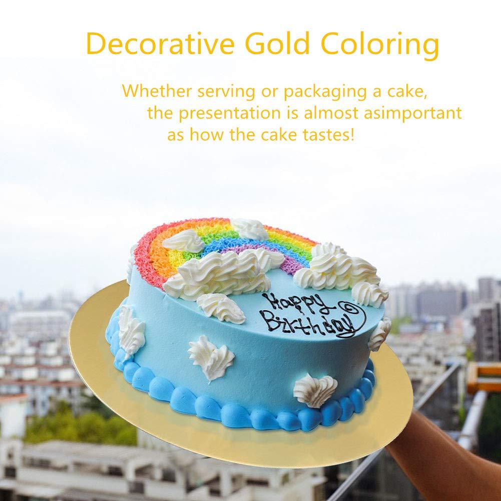 Cake Board Golden Round Circles Cake Base 3pcs Set  (6, 8, 10, Inch)