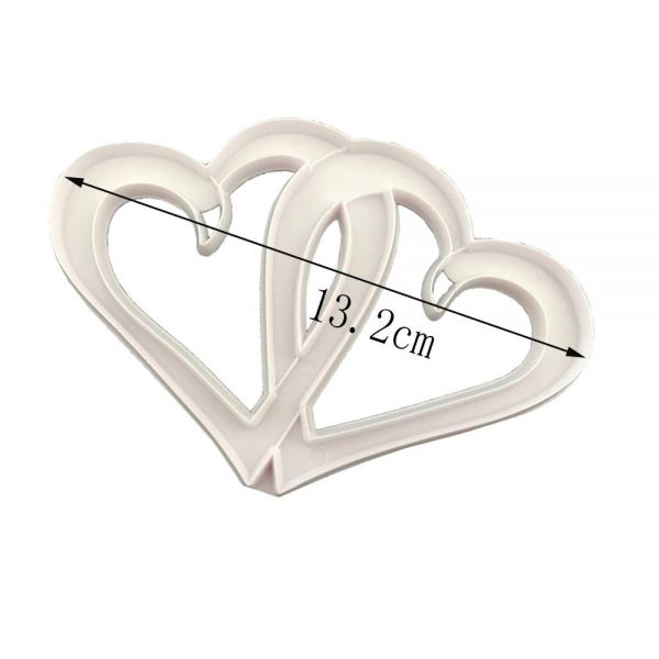 Entwined Hearts Fondant Cutter - Divena In