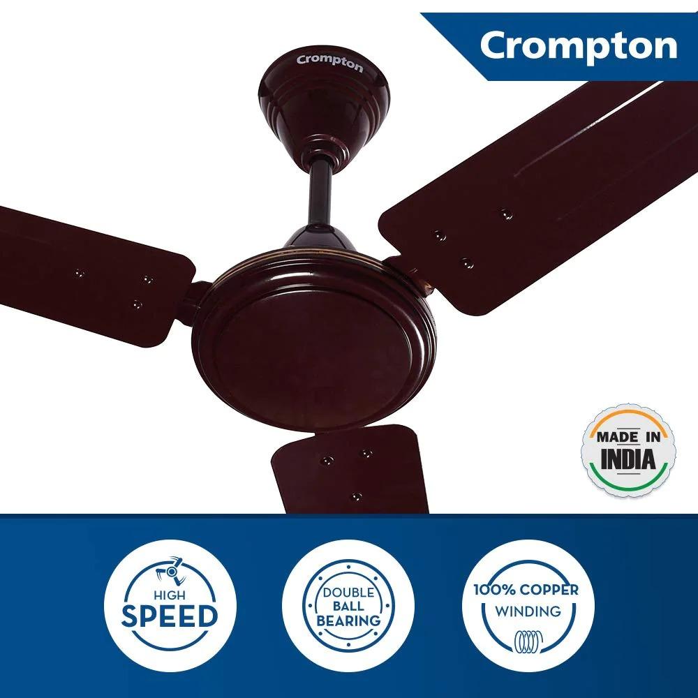 Crompton Sea 1200 Mm (48 Inch) High Speed Ceiling Fan (Brown)