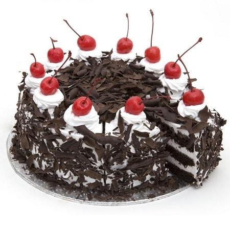 Black Forest Cake - FFCA00BF (Standard (15:00,18:00),Regualr with egg,0.5 Kg)