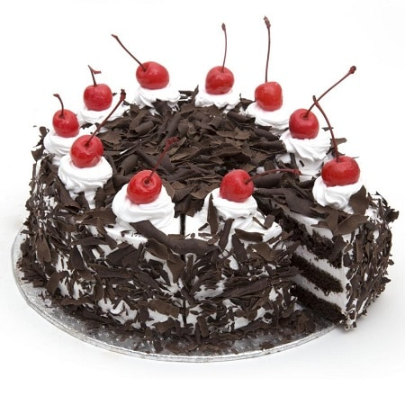 Black Forest Cake - FFCA00BF (Mid-Night (23:00,00:00),Regualr with egg,0.5 Kg)