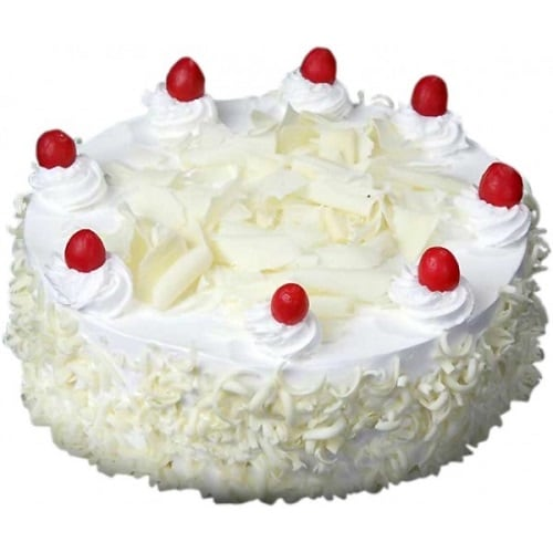White Forest Cake - FFCA00WF (Standard (15:00,18:00),Regualr with egg,0.5 Kg)