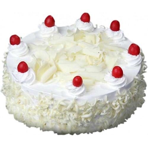 White Forest Cake - FFCA00WF (Standard (09:00,12:00),Make it eggless,0.5 Kg)