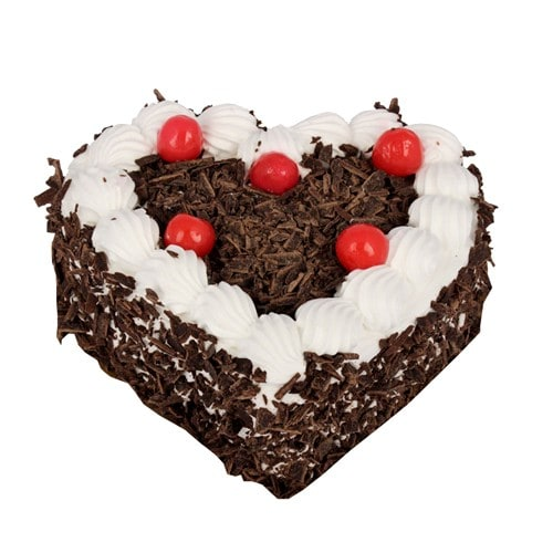 Heart Shape Black Forest Cake - FFCA0HBF (Standard (09:00,12:00),Regualr with egg,1.0 Kg)