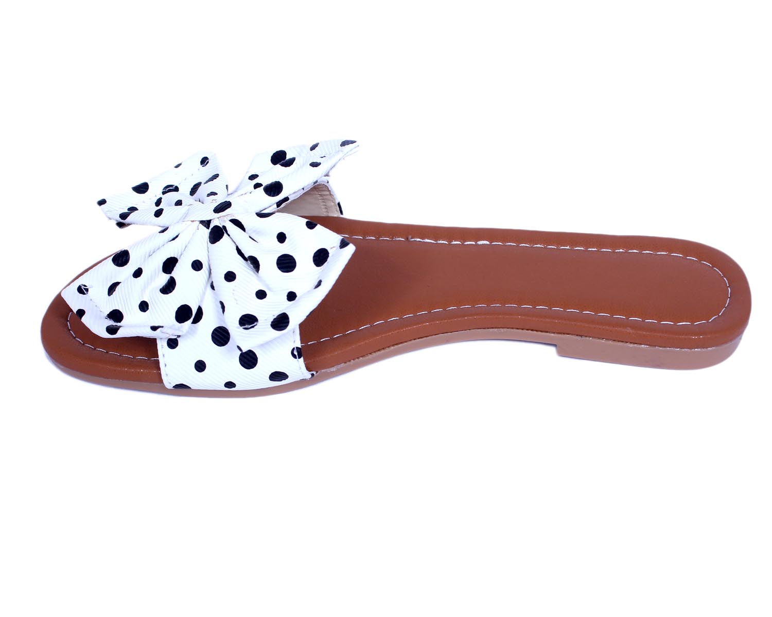 Gibelle Fancy Women's White Casual Flat Sandals GWF-029-WH (White, 36-40, 5 PAIR)