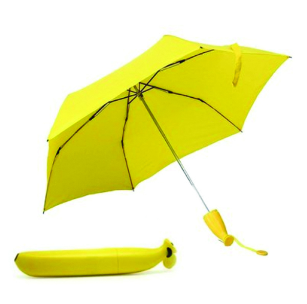 Stylish Banana Shaped Mini Foldable Umbrella UV Protection For Outdoor