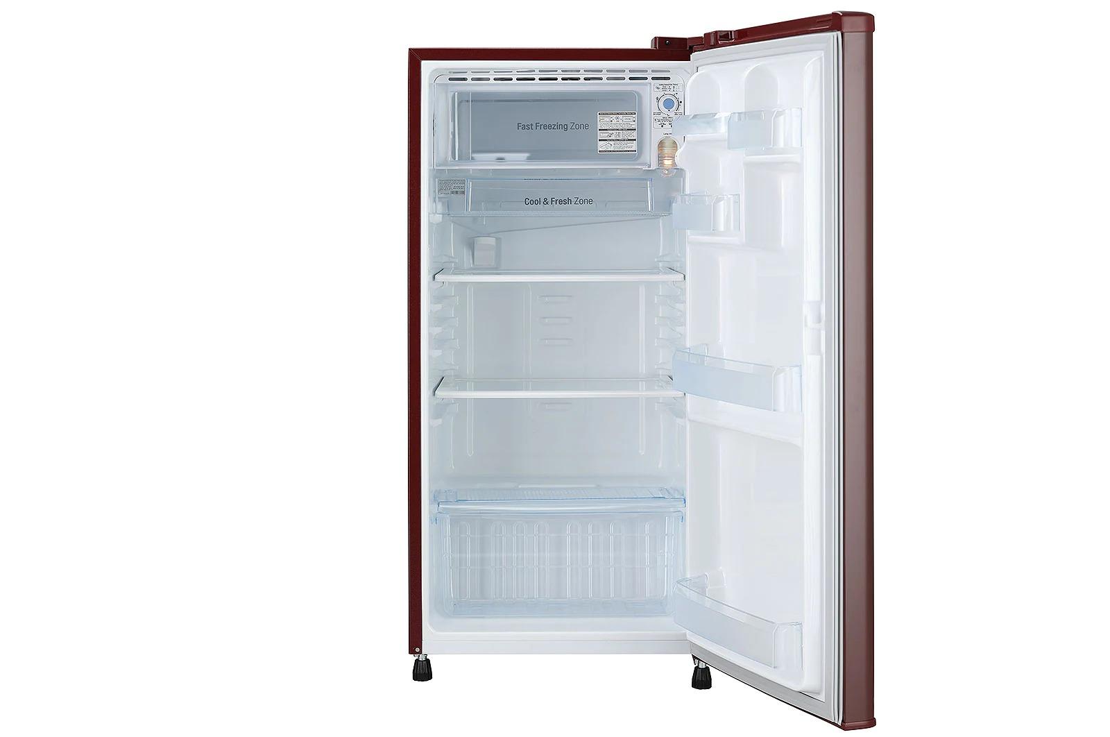LG (GL-B181RRGC) 185 L, Fastest In Ice Making, Toughened Glass Shelves