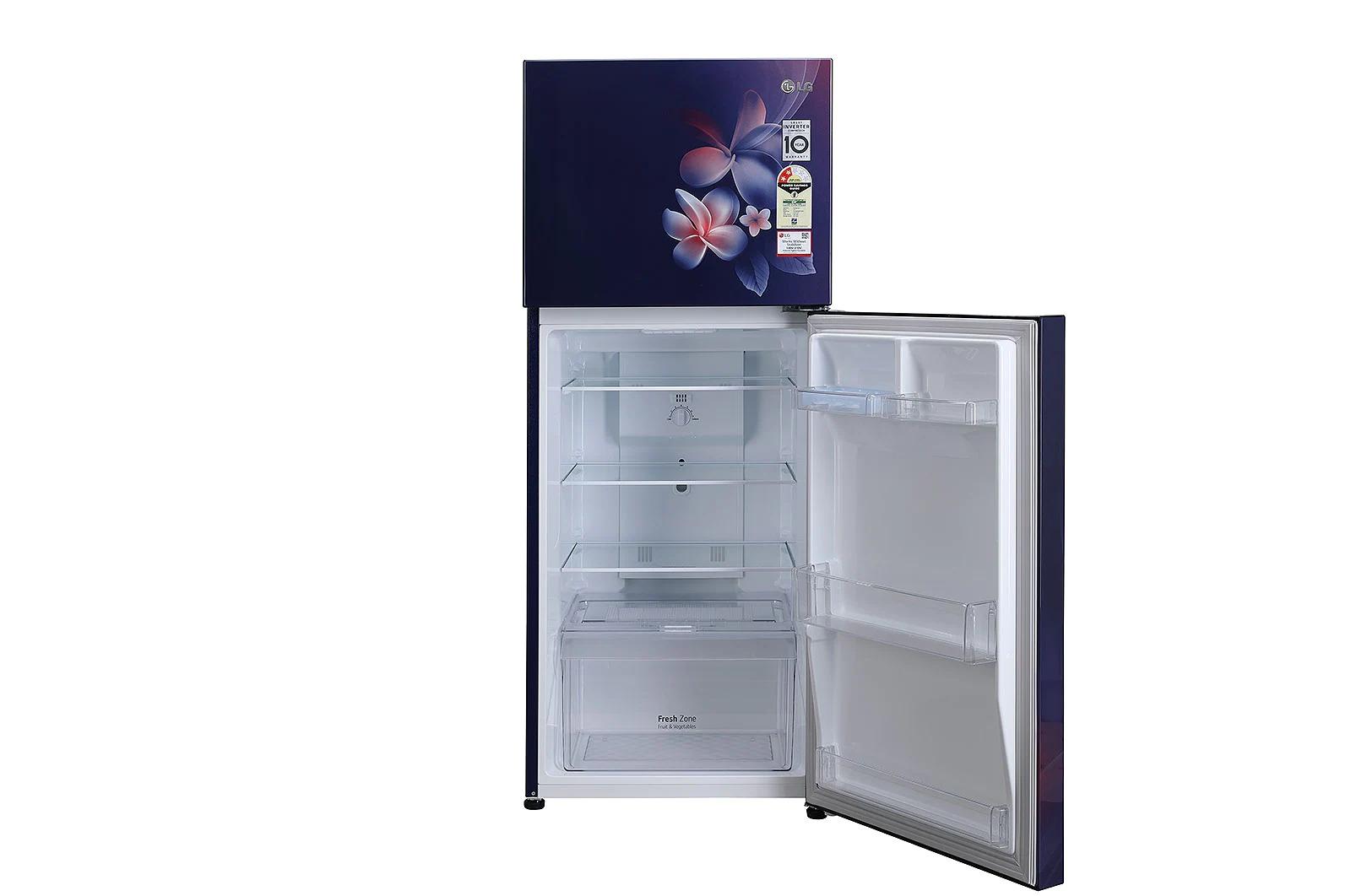 LG (GL-N292DBPY) 260 Litres Frost Free Refrigerator With Smart Inverter Compressor, Multi Air Flow, MOIST 'N' FRESH, LED Lighting