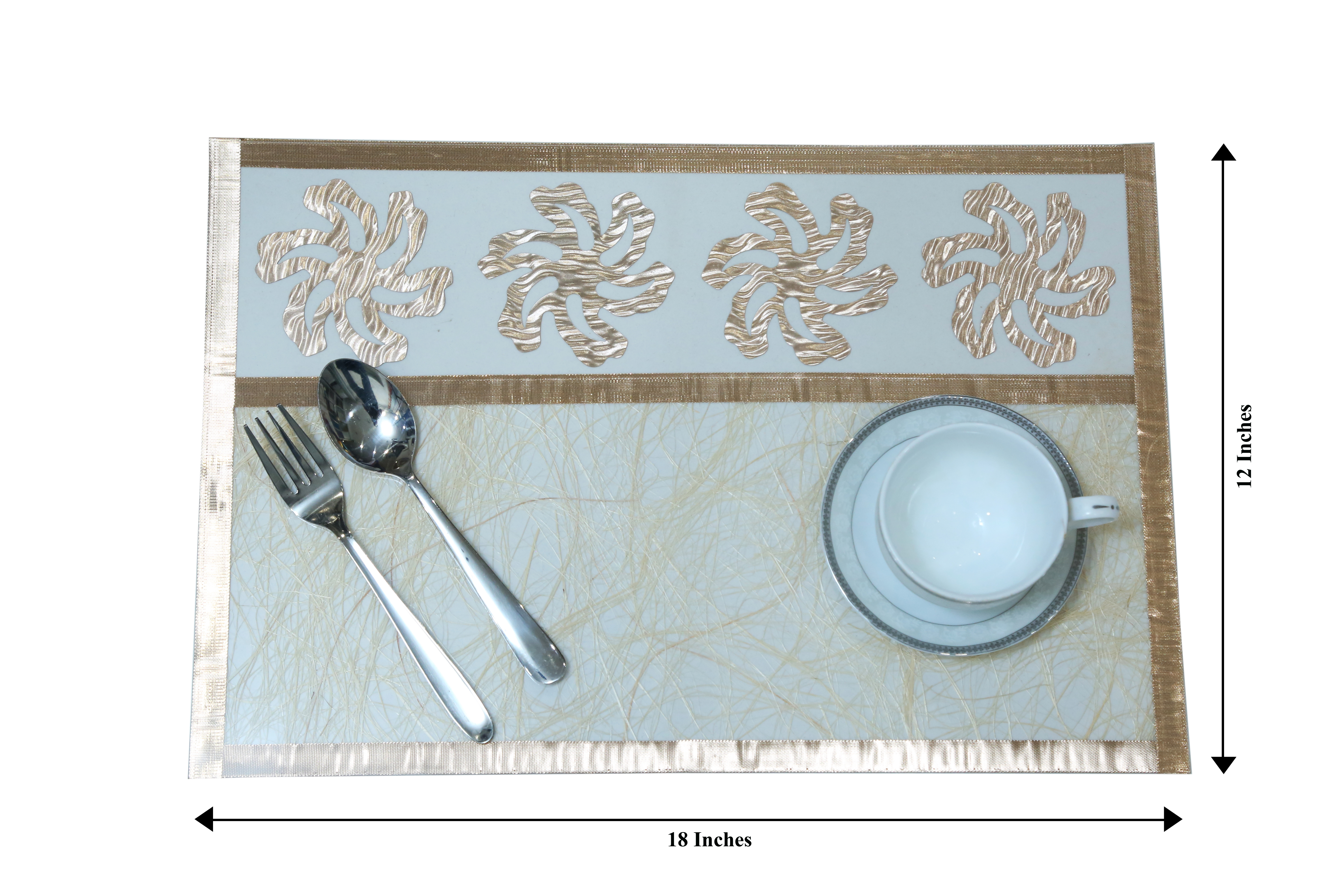 Florance Table Mats, Kitchen & Dining Multicolor Placemats Set Of 6 (Multi, 12 x 18)