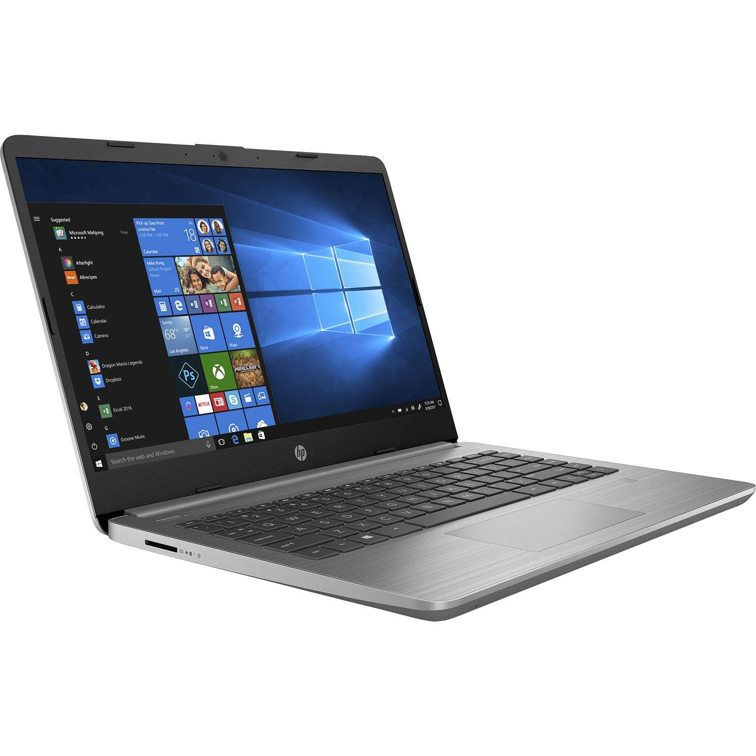 HP Notebook PC 340S G7 14- Laptop (10th Gen Core I5-1035U/8GB/512GB SSD/DOS/Intel UHD Graphics), Ash Silver [B08826TNR6]