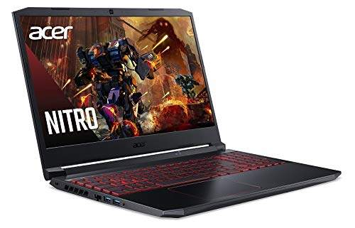 Acer Nitro 5 AN515-55 15.6- FHD IPS Display Gaming Notebook(10th Gen Intel Core I7-10750H Processor/8GB/1TB HDD + 256GB SSD/Windows 10 Home 64 Bit/GTX 1650 Graphics) Obsidian Black [B088FKTSSN]