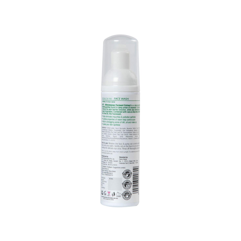 BareAir Neem & Tea Tree Foaming Facewash  Heal-Balance-Cleanse (80 ml)