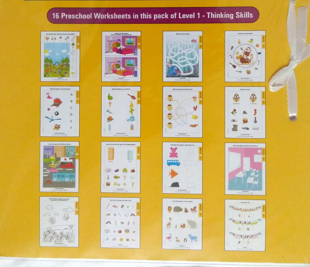 My Preschool Worksheets Thinking Skill Level 1 (Age3+)