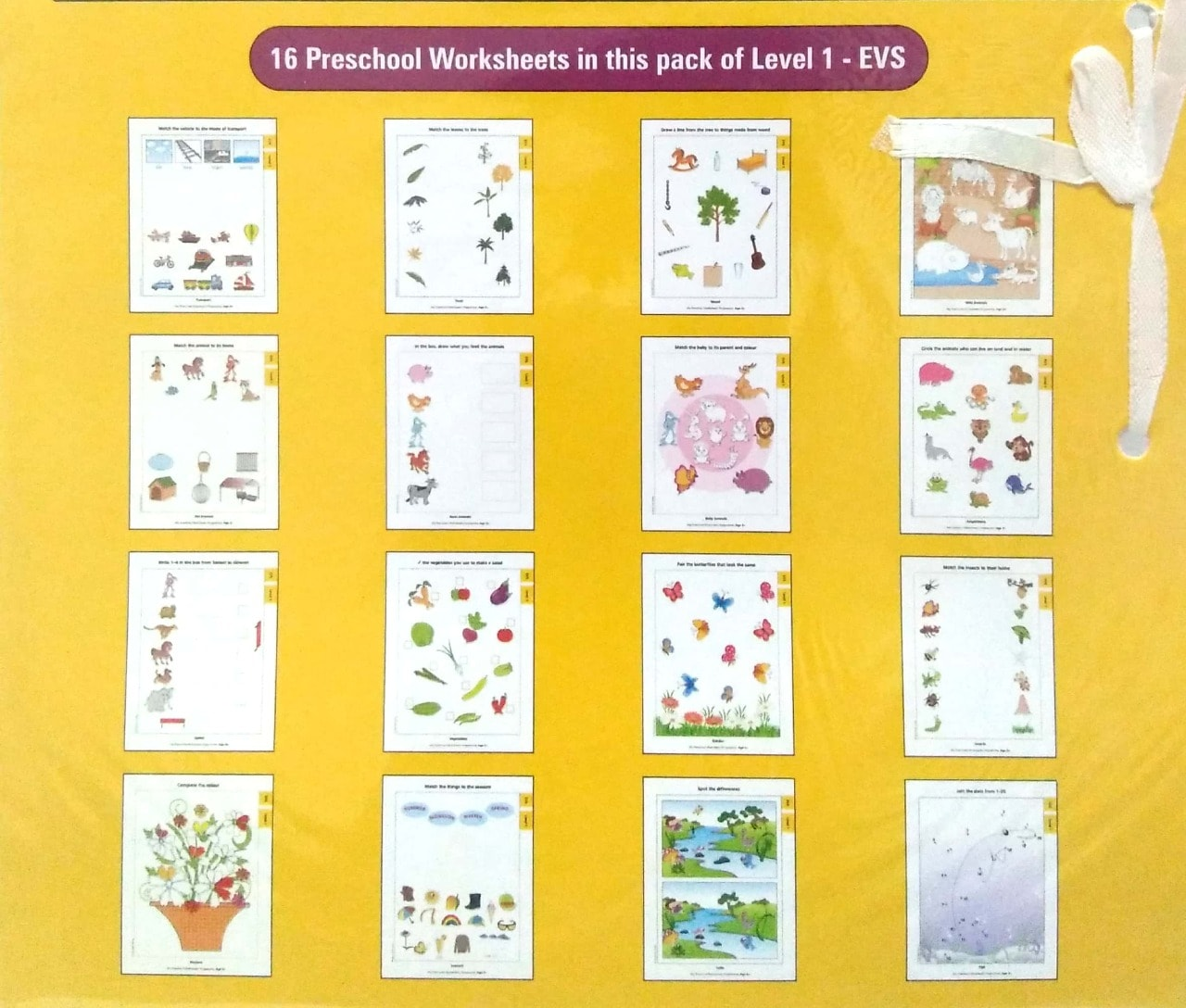 My Preschool Worksheets EVS Level 1 (Age3+)