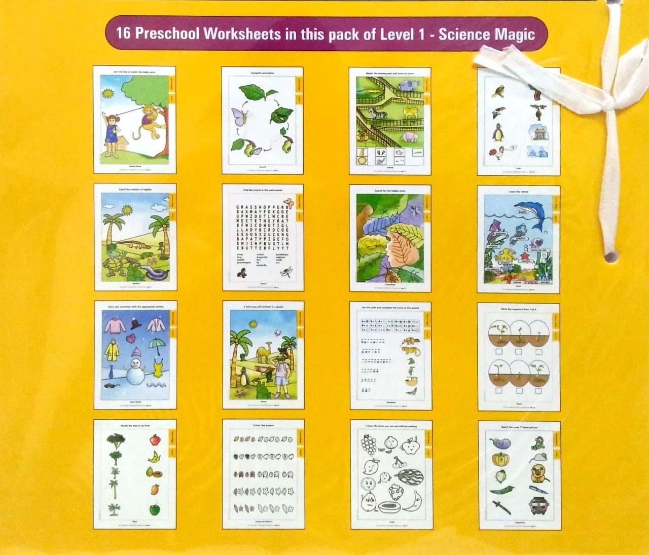 My Preschool Worksheets Science Magic Level 1 (Age3+)
