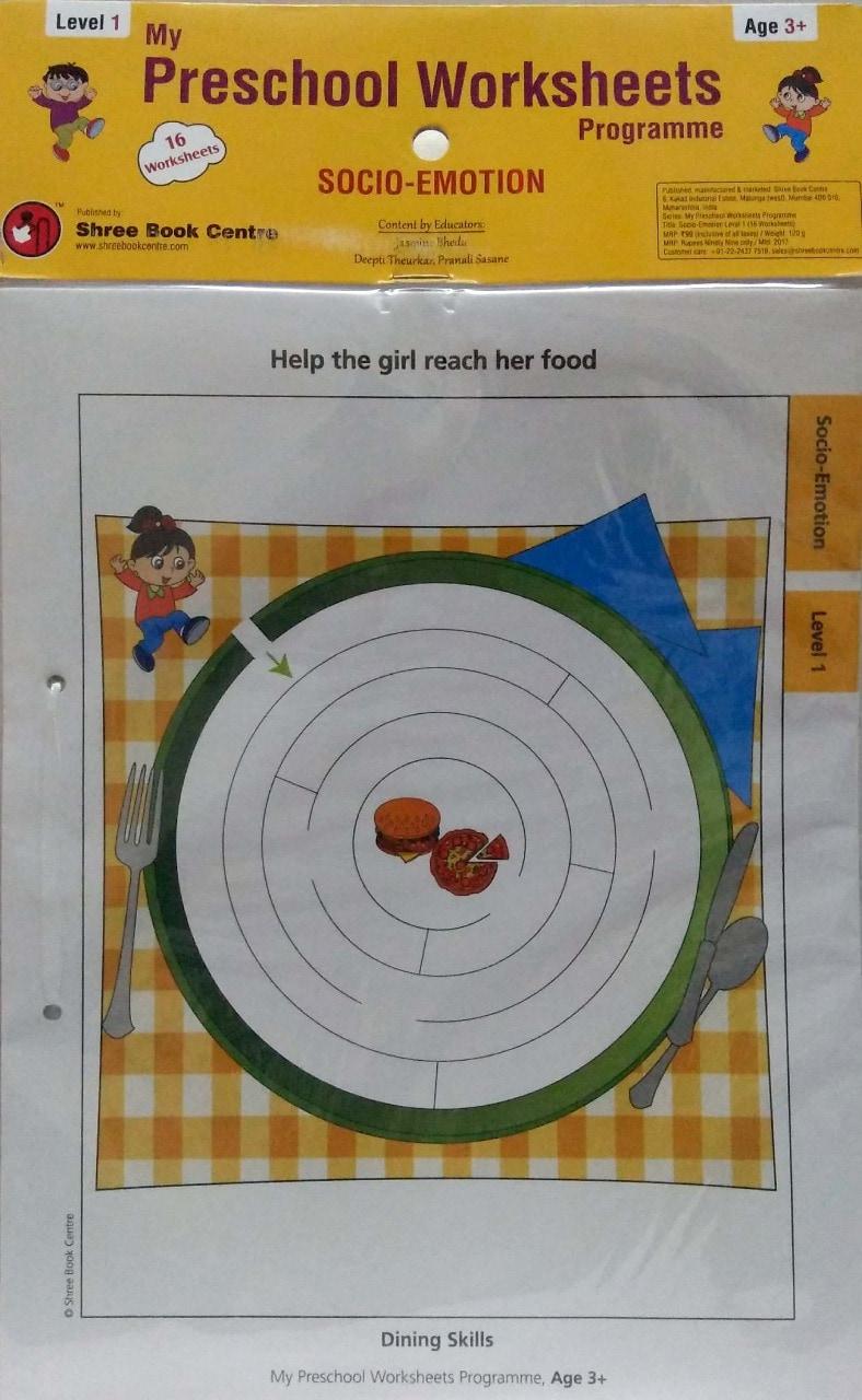 My Preschool Worksheets Socio Emotion Level 1(Age3+)