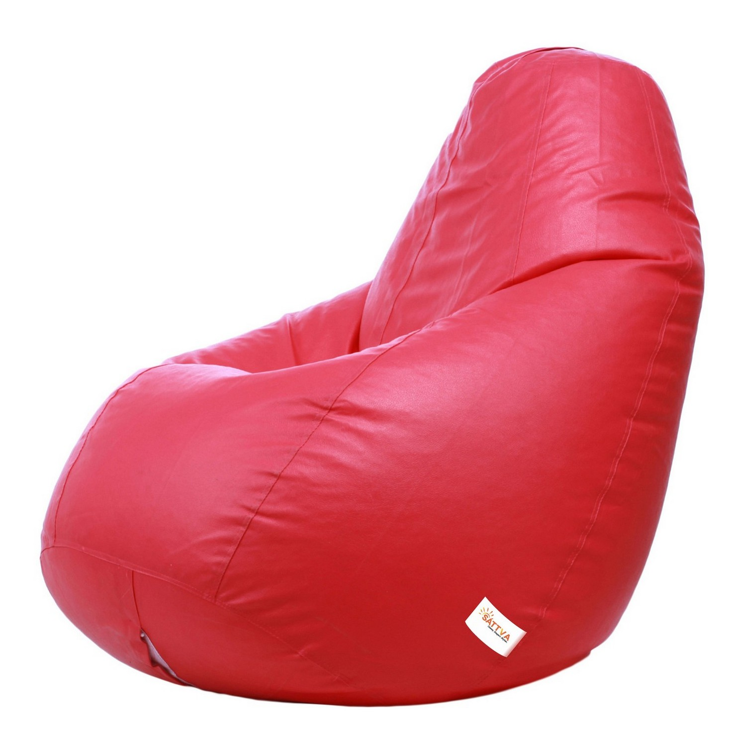 Sattva Combo Classic Bean Bag And Footstool (Filled ) XL - Black (XL, Pink)