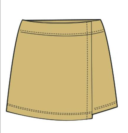 Formal Skorts (Pre-Primary) (3, Khakhi)