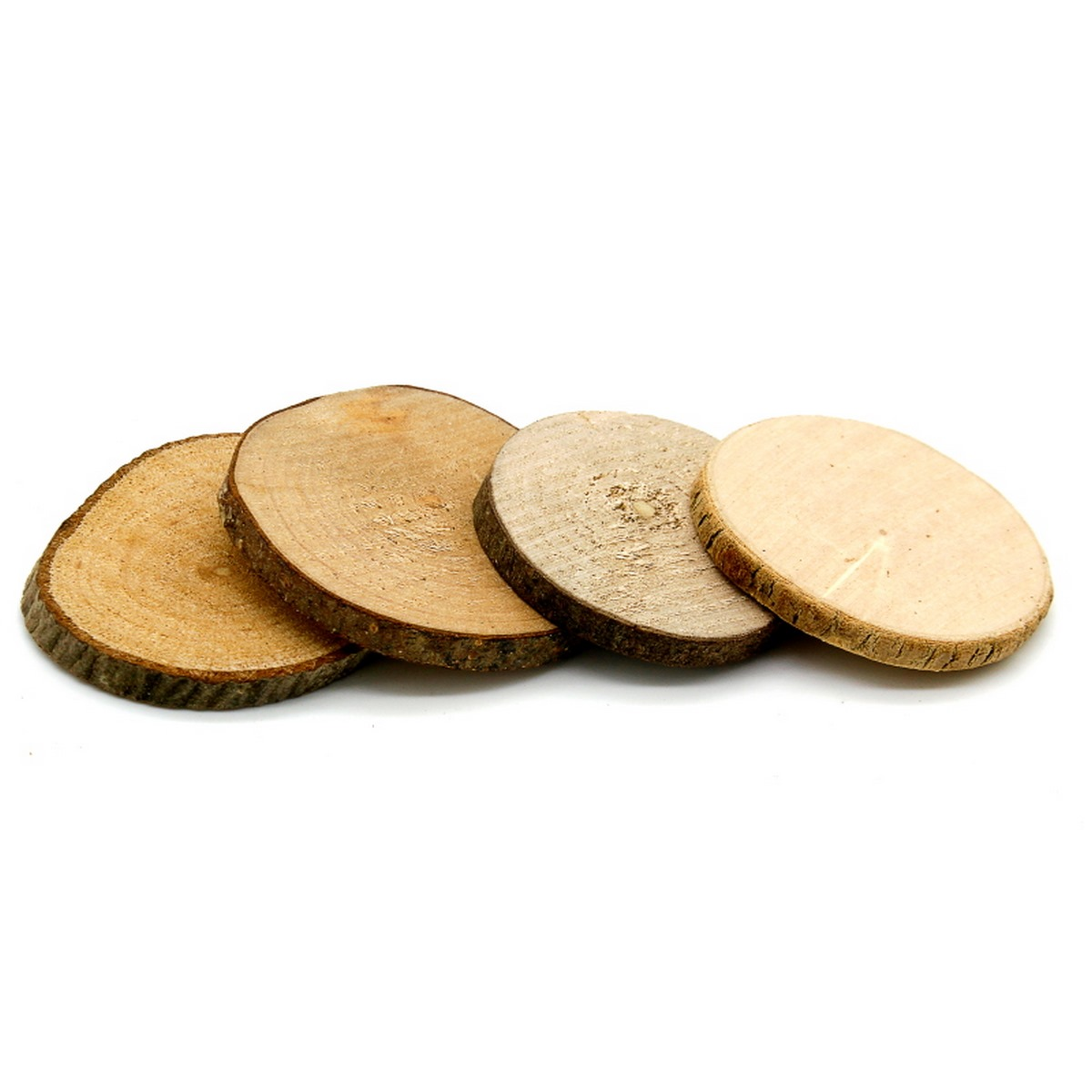Round Wood Plate 2cm Pack Of 4 Pcs (RWP2CM)