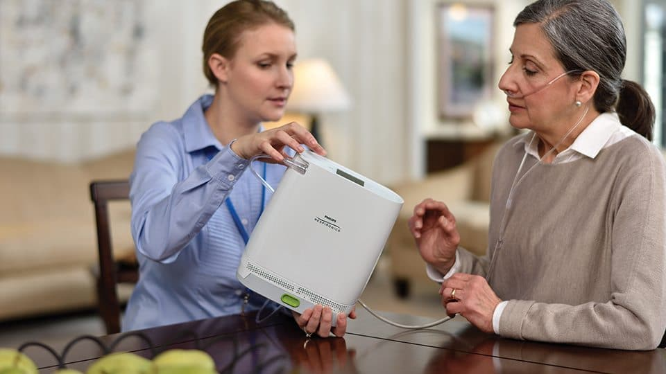 Philips Respironics Simply Go Mini Portable Oxygen Concentrator With Double Battery
