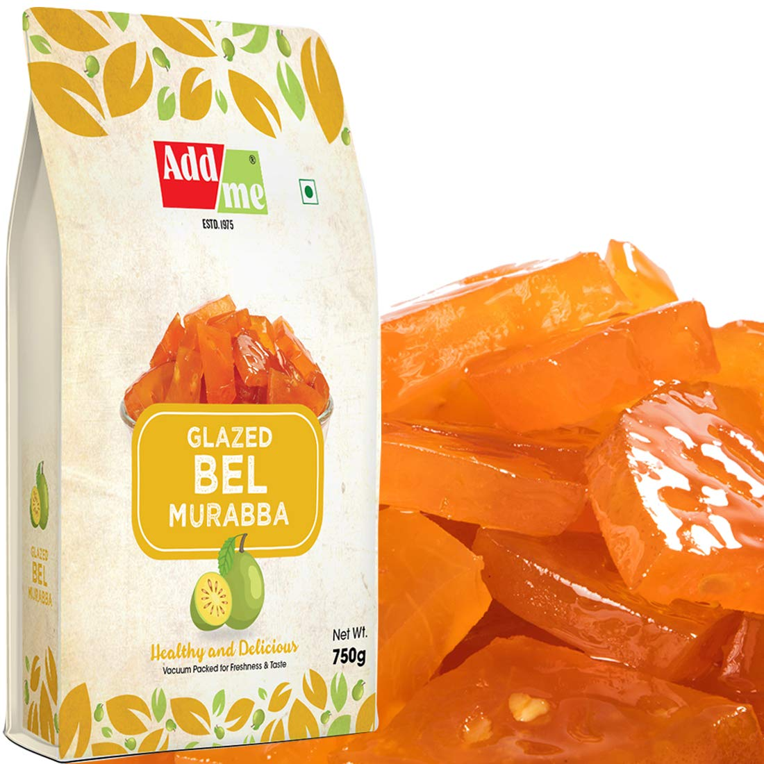 Add Me Special Bel Murabba, Apple Murrabba 750G Each Without Sugar Syrup Immunity Booster Pack Of 2