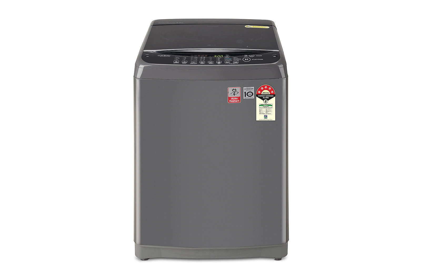 LG (T90SJMB1Z) 9.0kg, 5 Star, Middle Black, Jet Spray+, Punch+3, TurboDrum