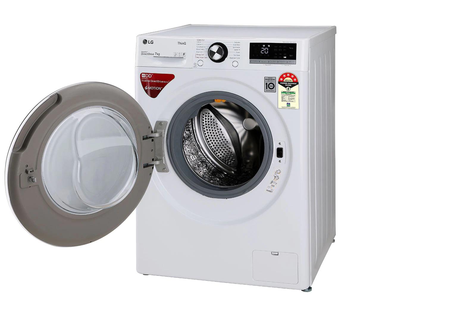 LG (FHV1207ZWW) 7.0Kg, AI Direct Drive™ Washer With Steam™ & TurboWash™
