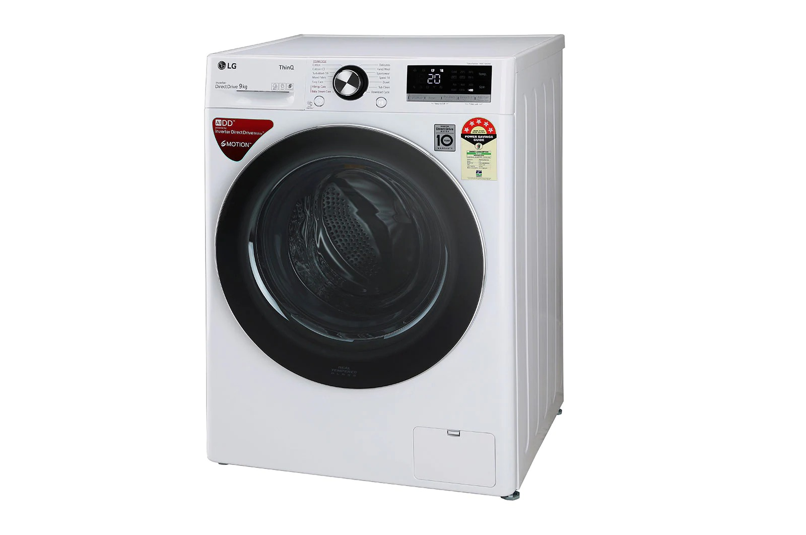 LG (FHV1409ZWW) 9.0Kg, AI Direct Drive™ Washer With Steam™ & TurboWash™