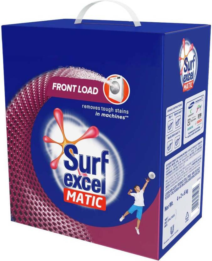 Surf Excel Matic Front Load Detergent Powder - 4 Kg+2KG