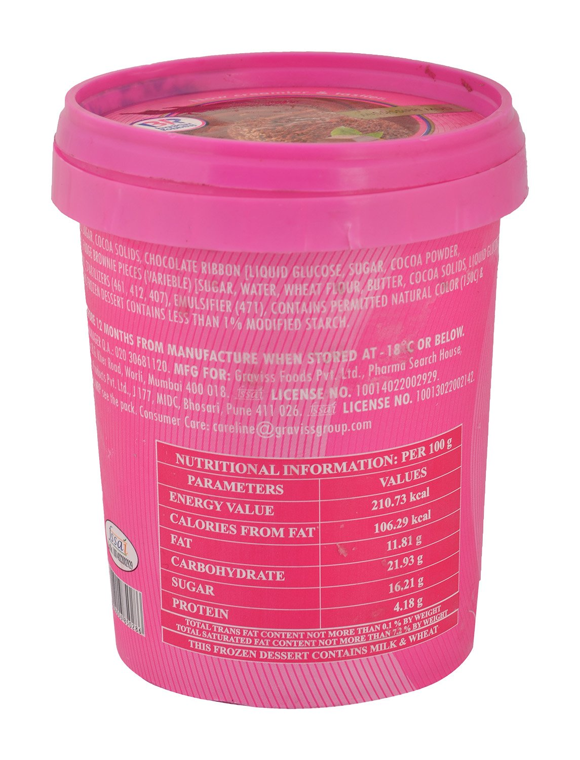 Baskin Robbins Mississippi Mud Ice Cream - 500 M