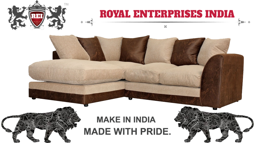 Royal Apricot 2 Seater + Lounger Sofa