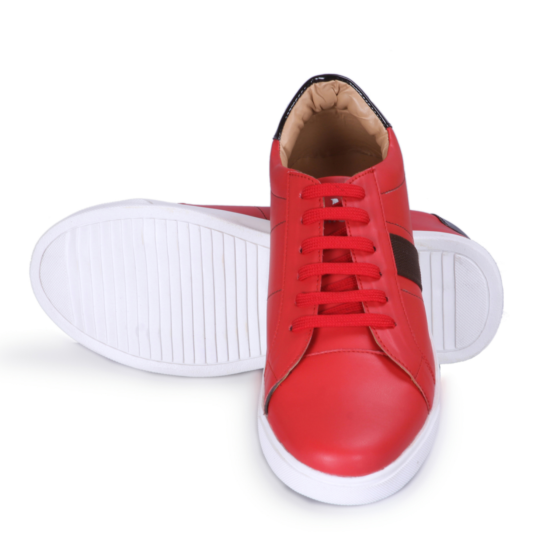 G.M.A Men's Casual Shoes GM_3030_Red (Red, 7-10, 8 PAIR)