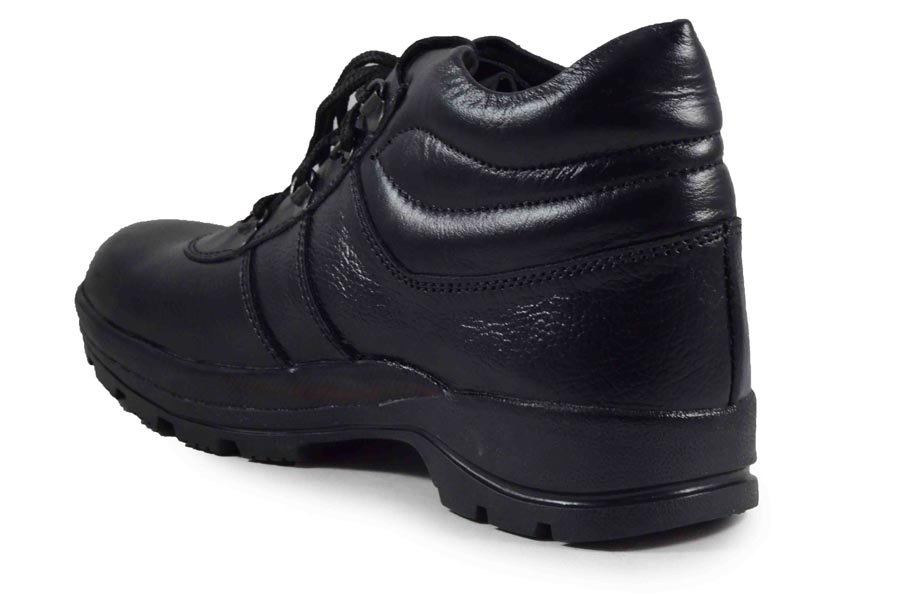 IMCOLUS199.314_BLACK HIGH QUALITY SAFETY SHOES FOR MEN FULLY LEATHER & TPR SOLE IMCOLUS199.314_BLACK (BLACK, 6-9, 4 PAIR)