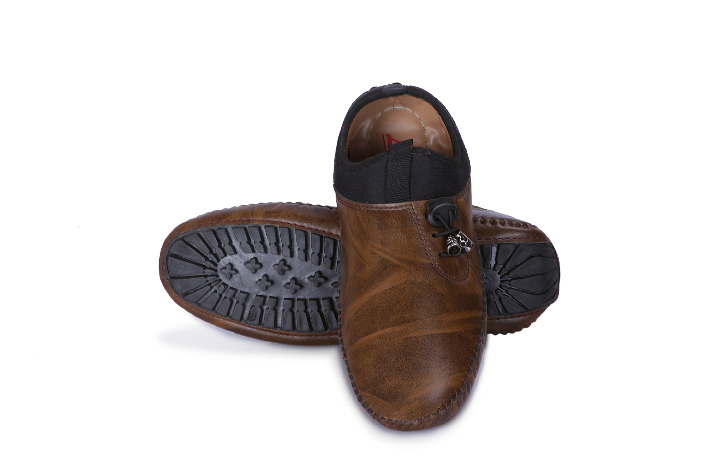 G.M.A Men's Loafer Shoes GM_101_Brown (Brown,6-10,8 PAIR)