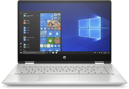 HP Pavilion X360 Core I5 10th Gen - 14-dh1011TU 2 In 1 Laptop(14  , Natural Silver, 1.59 Kg, With MS Office)