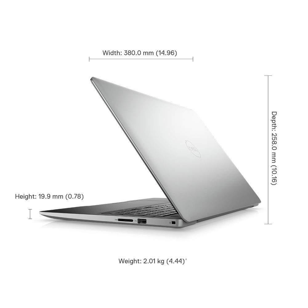 DELL Inspiron 3584 15.6- FHD Laptop (7th Gen Core I3-7020U / 4GB / 1TB HDD / 2 GB AMD / Windows 10 + MS Office/Intel HD Graphics), Silver