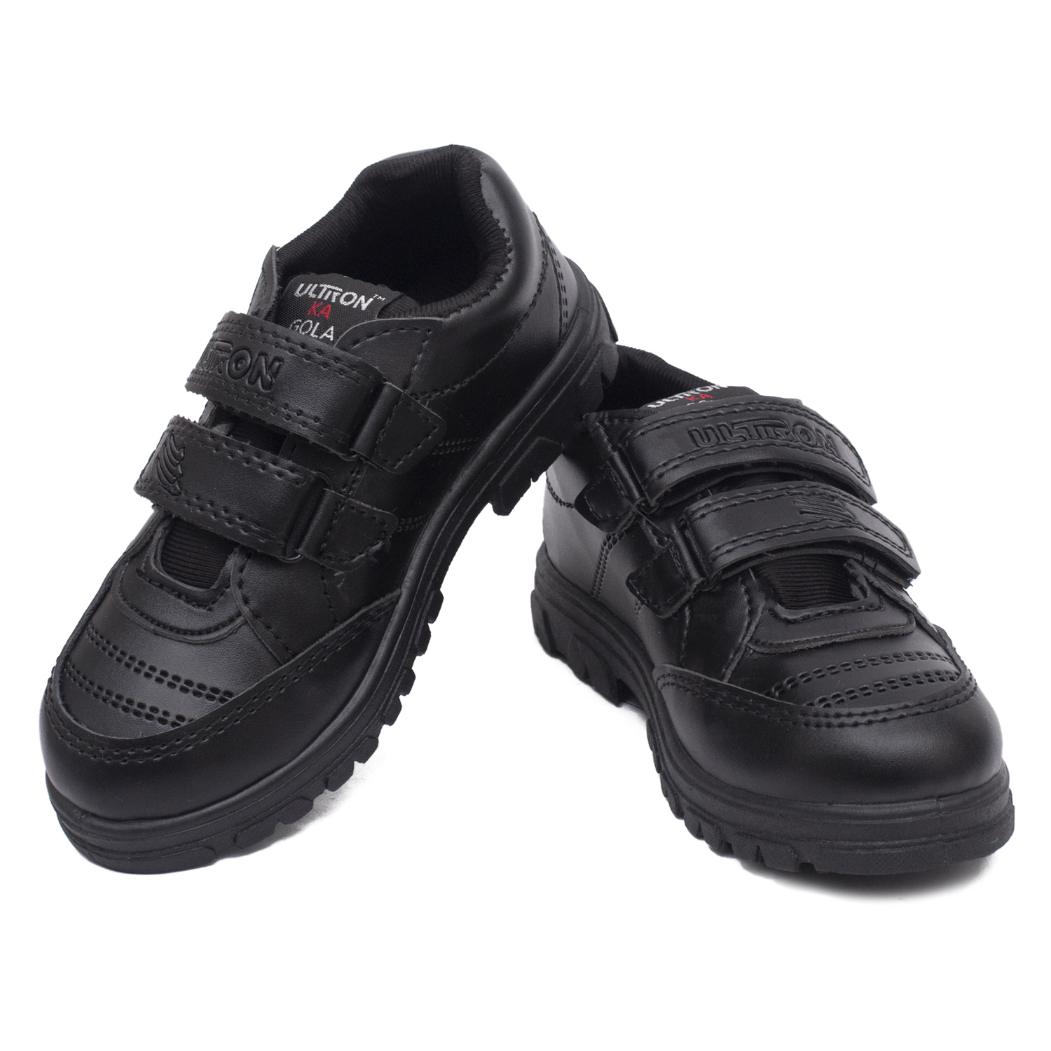 Foot Trends Gola Welcro School Shoes For Kids FT1-Gola-Welcro (BLACK,8-10,6 PAIR)