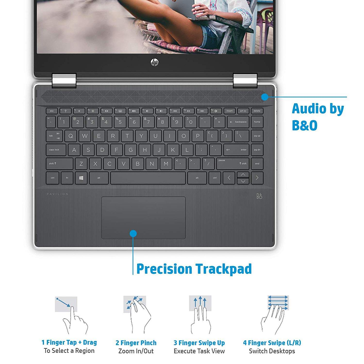 HP Pavilion X360 Core I3 10th Gen 14- HD Touchscreen 2-in-1 Alexa Enabled Laptop (4GB/256GB SSD/Windows 10/MS Office/Inking Pen/Natural Silver/1.59 Kg), 14-dh1006TU