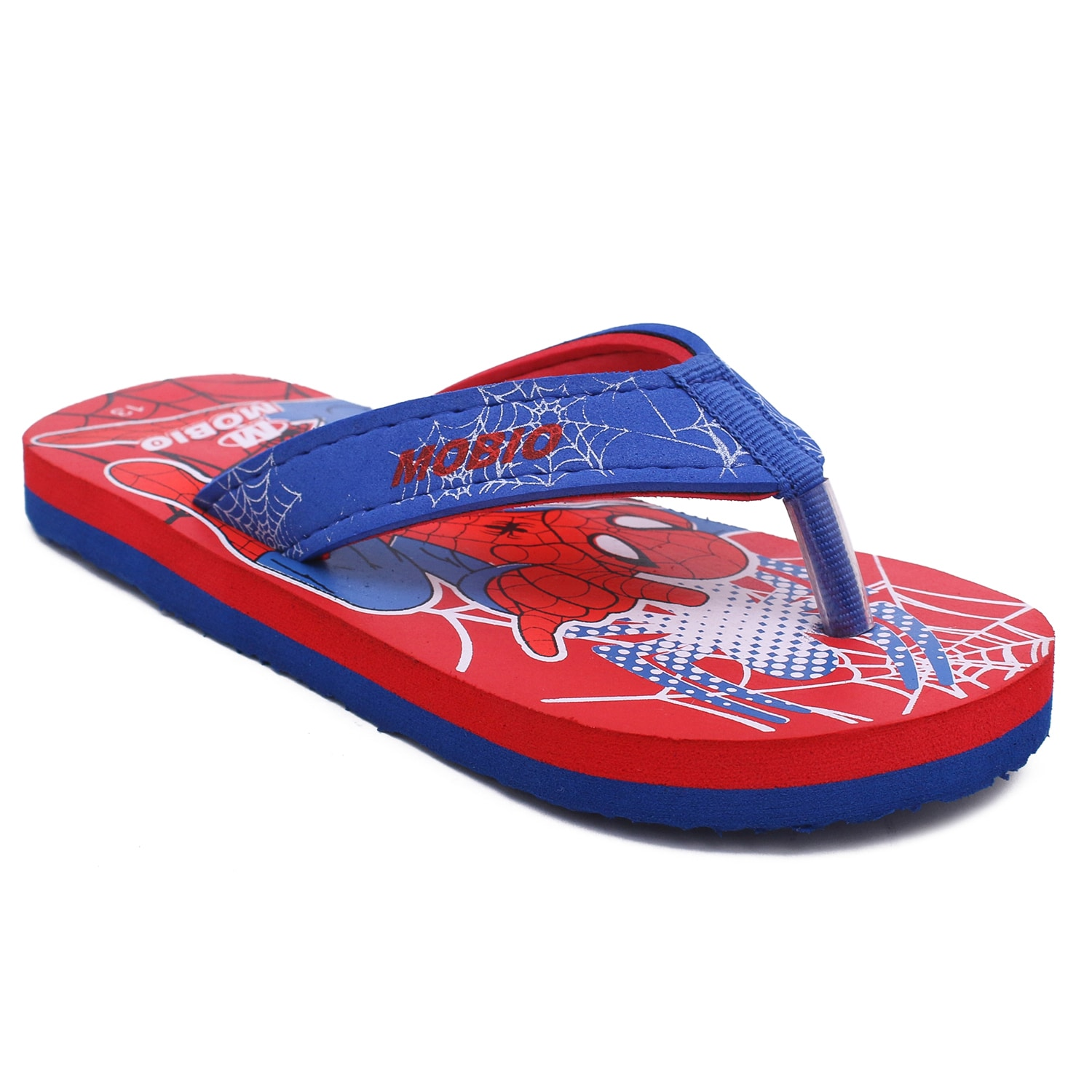 Foot Trends SPM_Blue Kids Favorite Charactor Slipper FT-SPM_BLUE (BLUE,1-3,6 PAIR)