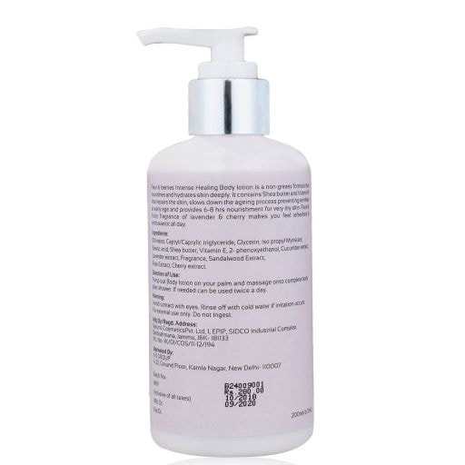 Fleur & Berries Intense Healing Lavender And Cherry Body Lotion (200 ml)