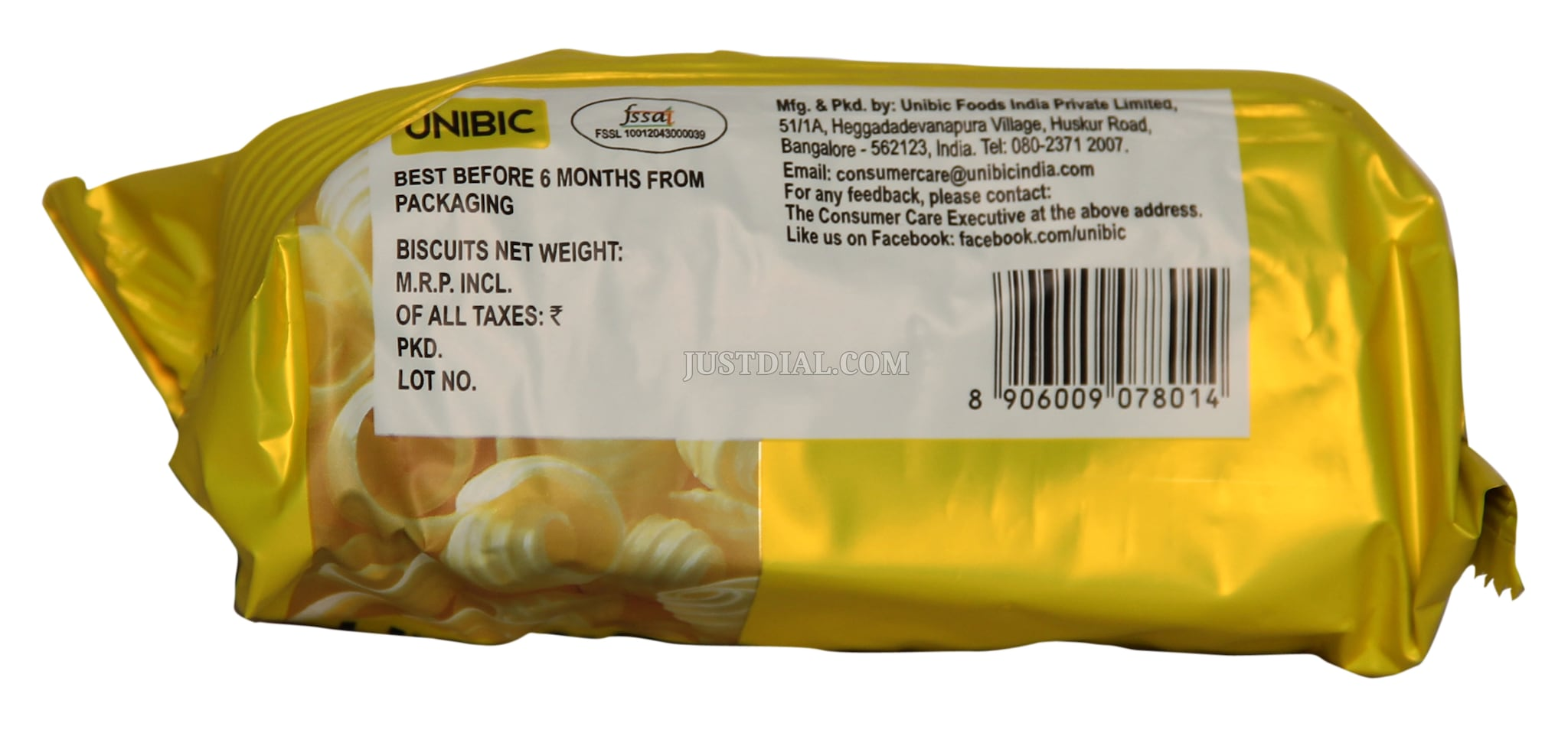 Unibic Butter Cookies 75 Gm