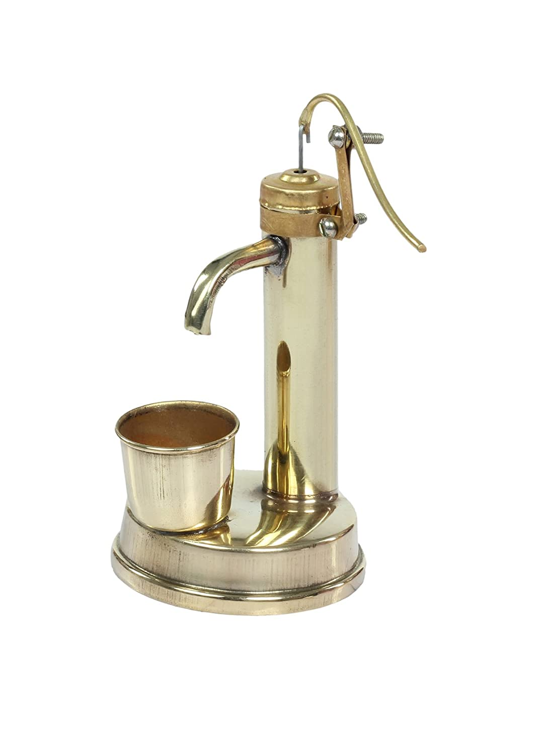 Tiny Souls Miniature Brass Hand Pump, Gold (free size)