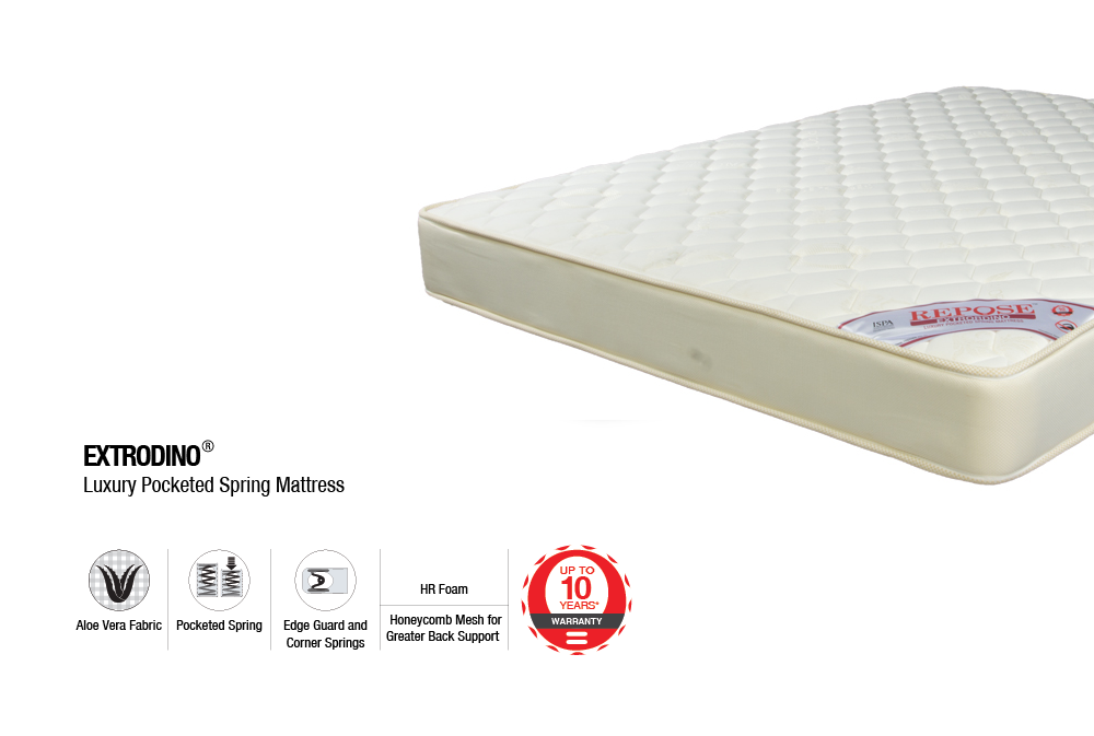 "Repose Extrordino Luxury Pocketed Spring Mattress Standard Top Model (78X66X8"")"