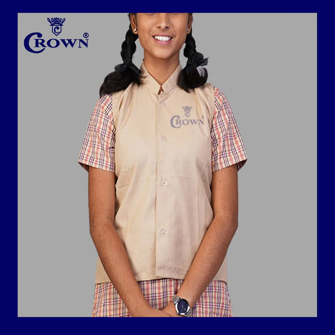 Crown TN Govt 6 - 8th Std Fawn Coat (13-14years)