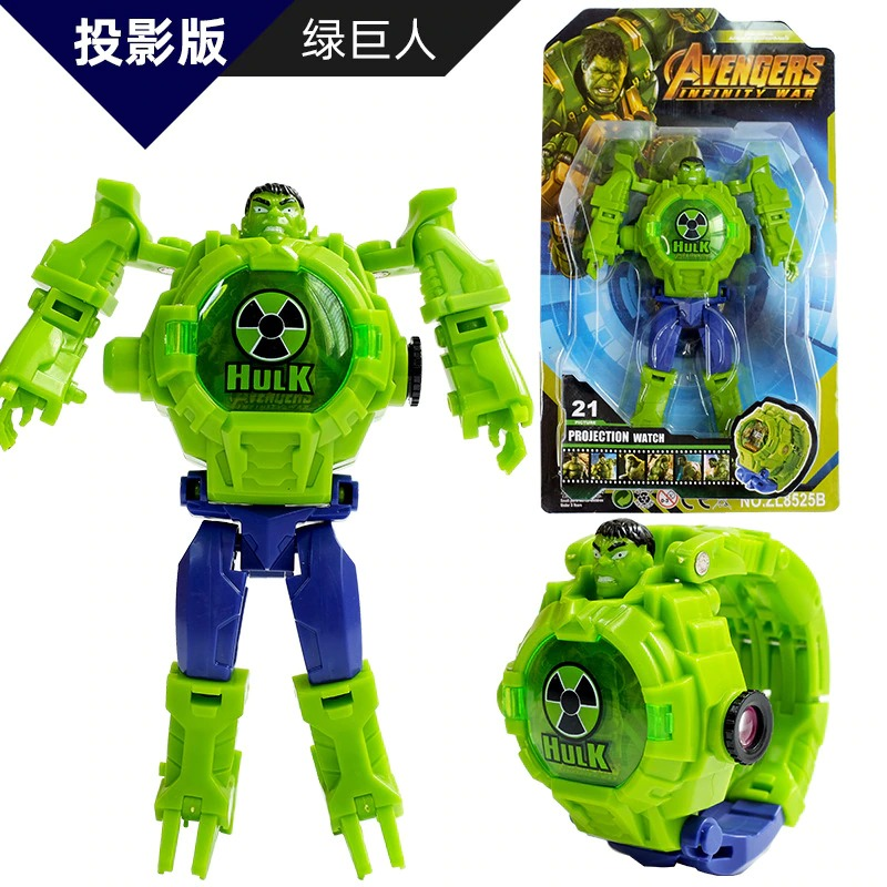 Robot Watch Toy 21 Pattern 2in1 Cartoon Projection And Toy